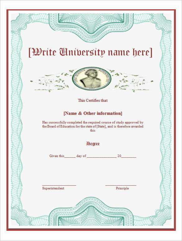 Bachelor Degree Certificate Template Fresh Bachelor Degree Certificate Template