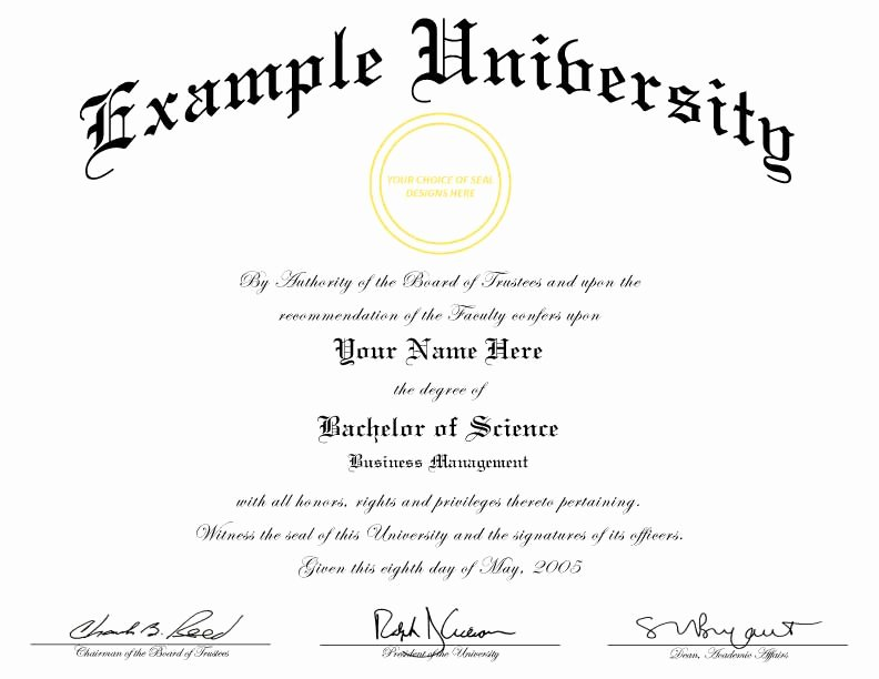 Bachelor Degree Certificate Template Inspirational Buy A Fake College Diploma Line