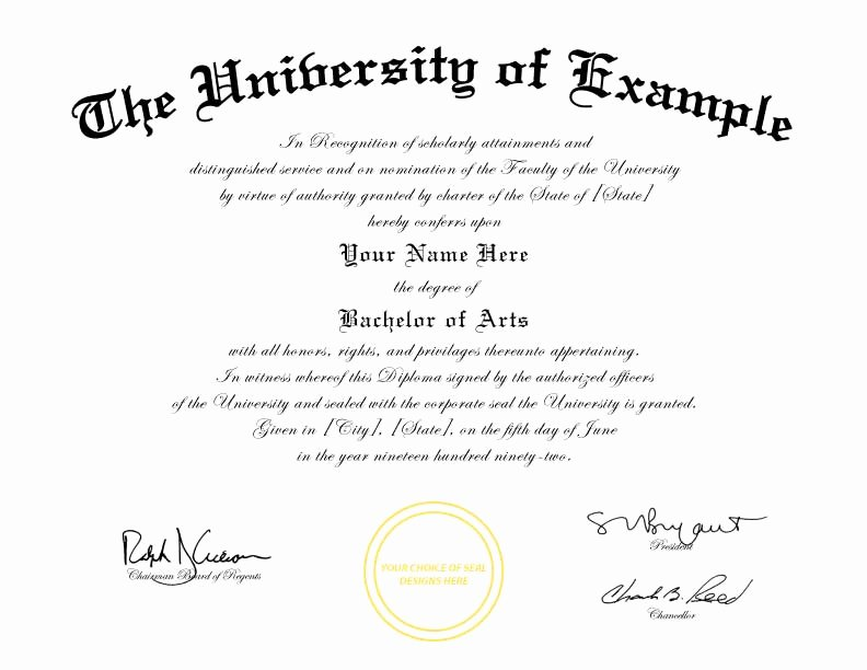 Bachelor Degree Certificate Template Luxury University Degree University Degree Template Download