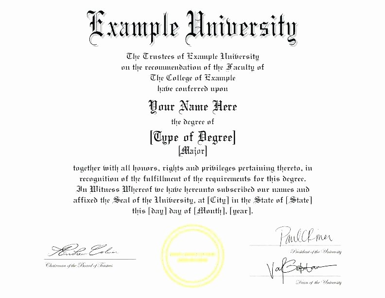 Bachelor Degree Certificate Template Unique 50 Bachelor Degree Template Free