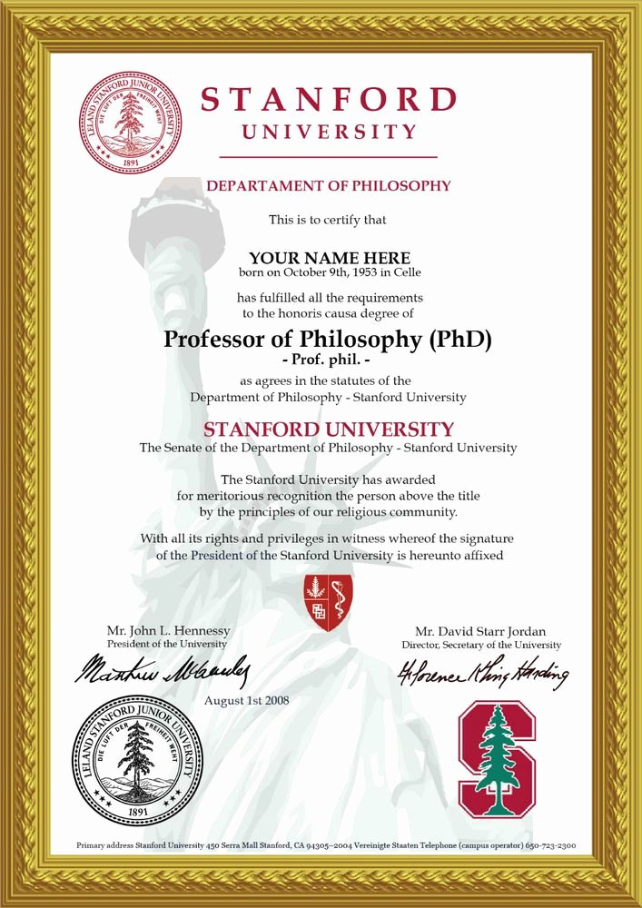 Bachelor Degree Certificate Template Unique ♛novelty A4 University Degree Certificate the Real Deal