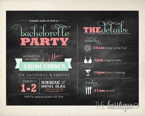 Bachelorette Party Agenda Template Awesome Bachelorette Party Night Weekend Itinerary Modern