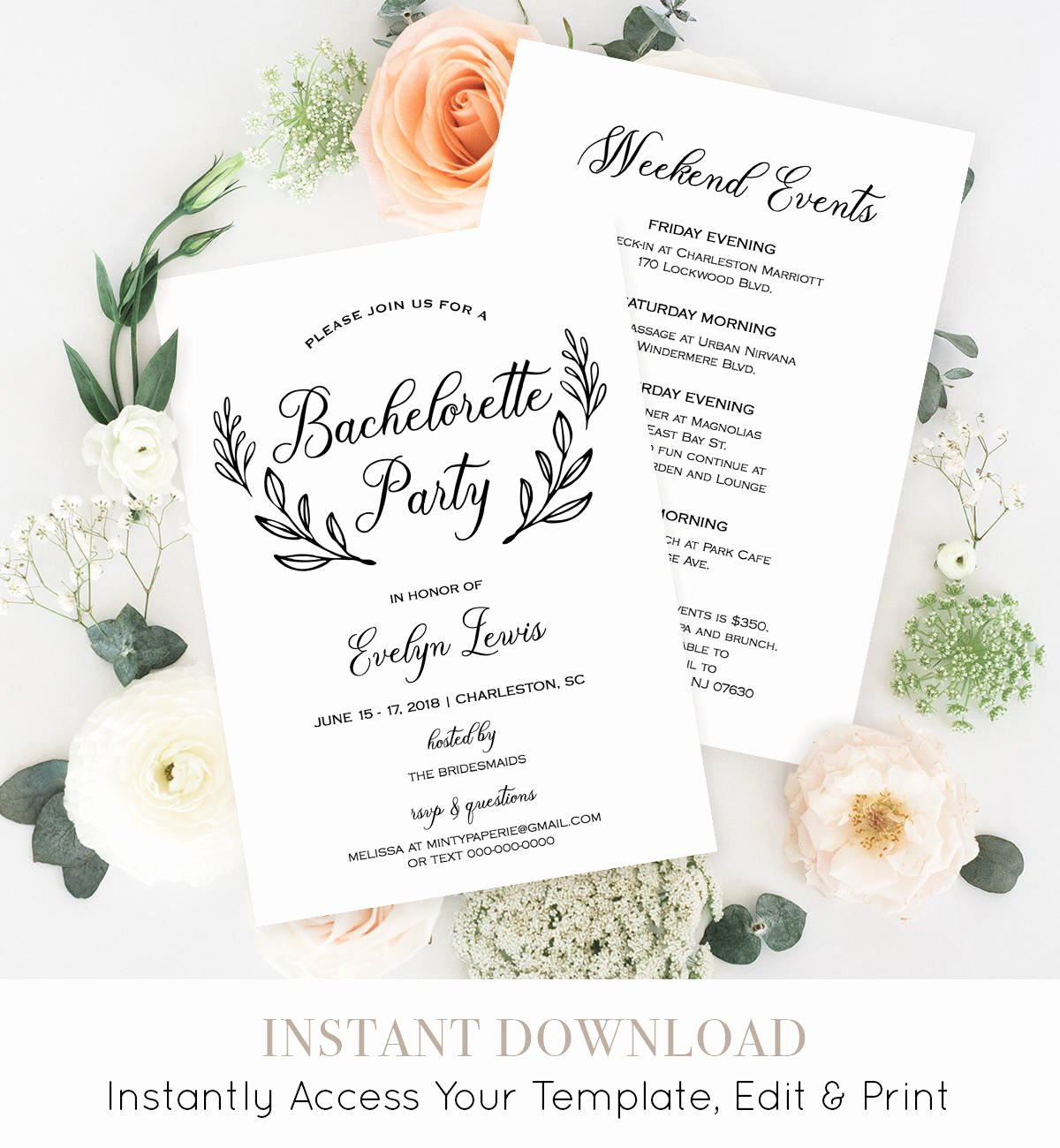 Bachelorette Party Agenda Template Best Of Bachelorette Party Invitation Template Printable