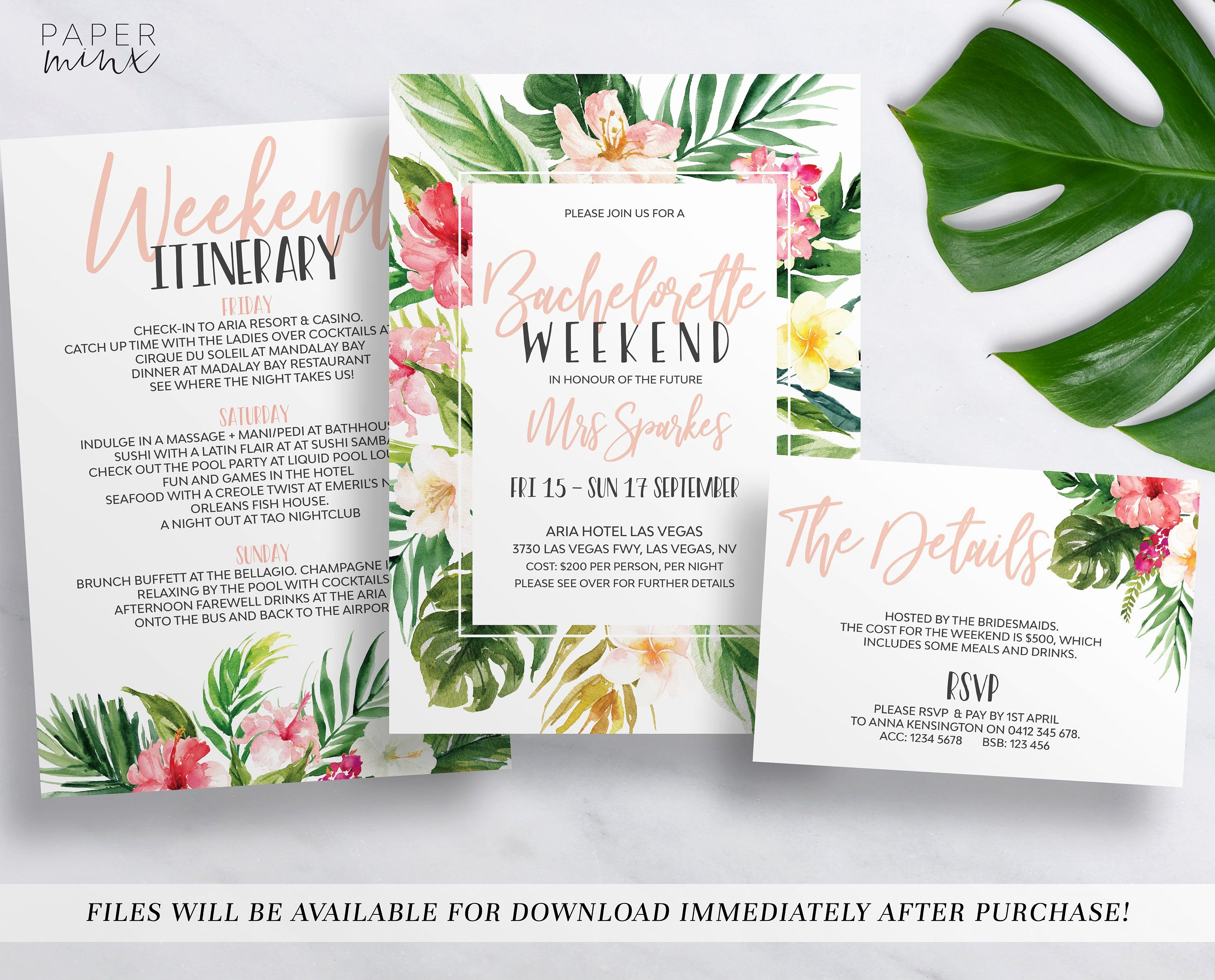 Bachelorette Party Agenda Template Best Of Pin by Mira Syed On \ W E D D I N G In 2019