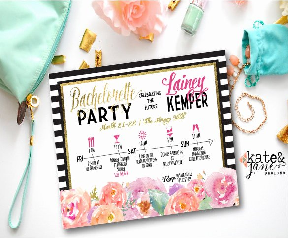 Bachelorette Party Agenda Template Lovely Itinerary Template – 15 Free Word Excel Pdf Documents