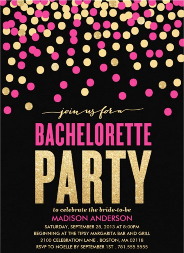 Bachelorette Party Invites Templates Beautiful 32 Bachelorette Invitation Templates Psd Ai Word
