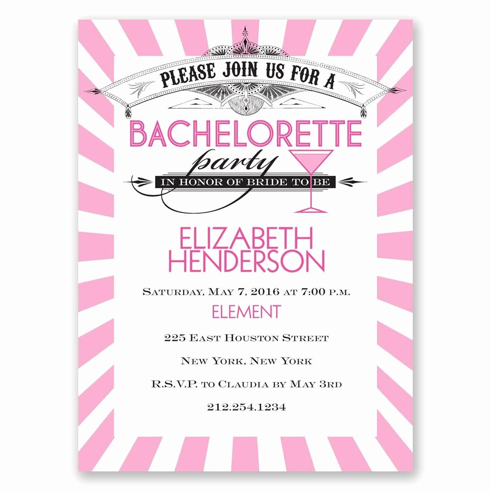 Bachelorette Party Invites Templates Beautiful Join the Party Bachelorette Party Invitation