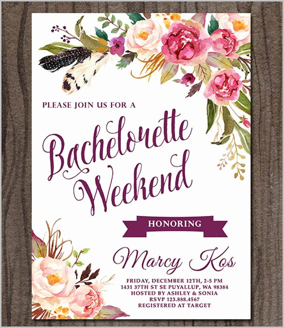 Bachelorette Party Invites Templates Best Of Bachelorette Party Invitation Templates Free Download