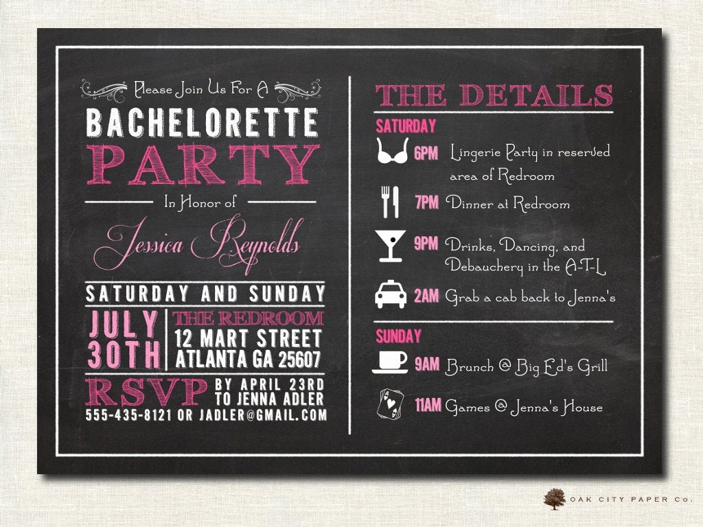 Bachelorette Party Invites Templates Fresh Bachelorette Invitation Bachelorette Party Invitation