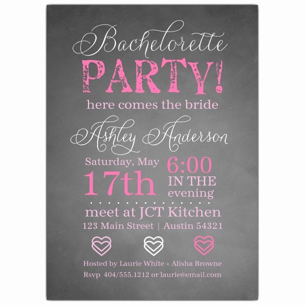 Bachelorette Party Invites Templates Inspirational Chalkie Bachelorette Invitations