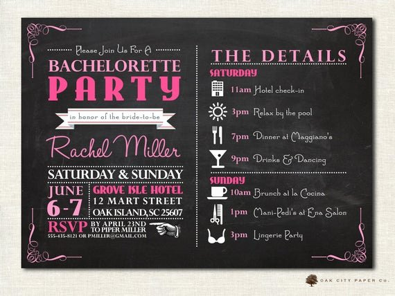 Bachelorette Party Invites Templates Luxury Bachelorette Invitation Bachelorette Party by