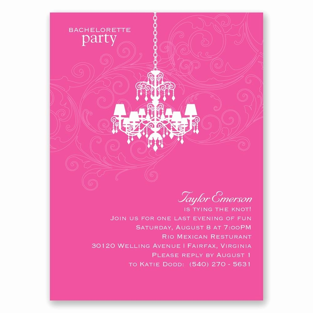 Bachelorette Party Invites Templates Unique Chandelier Swirl Bachelorette Party Invitation