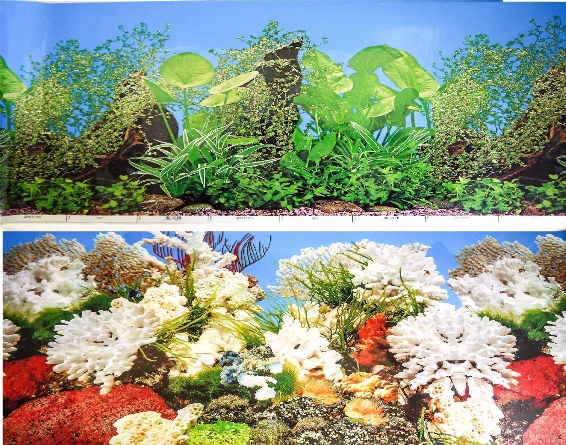 "Background for Fish Tank New 12"" 30cm Double Sided Aquarium Background Backdrop Fish"