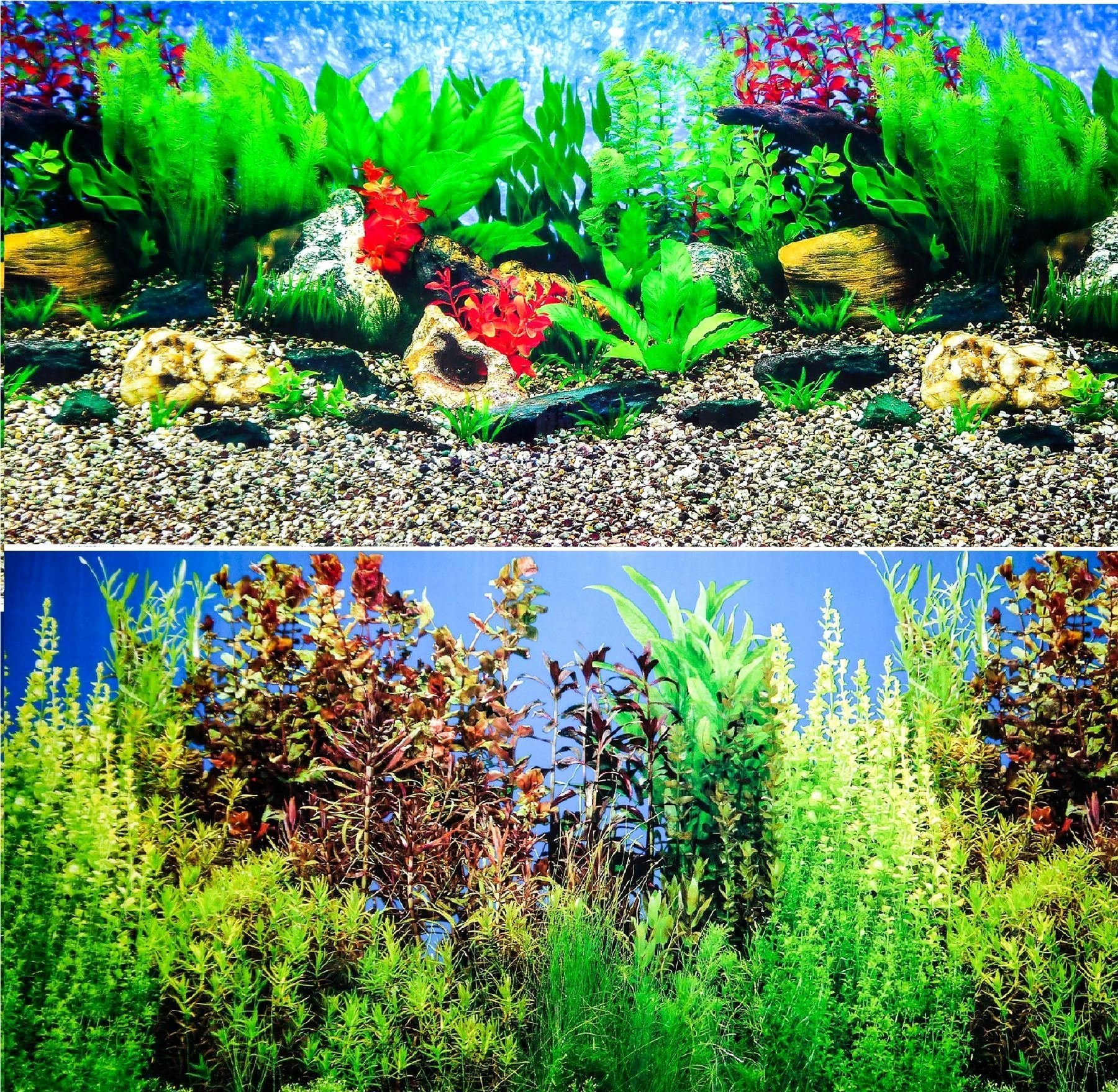 "Backgrounds for Fish Tanks Elegant 24"" Double Sided Aquarium Background Backdrop Fish Tank"