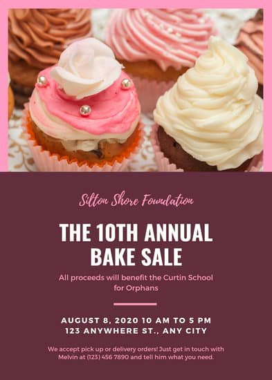 Bake Sale Flyer Wording Awesome Customize 288 Bake Sale Flyer Templates Online Canva