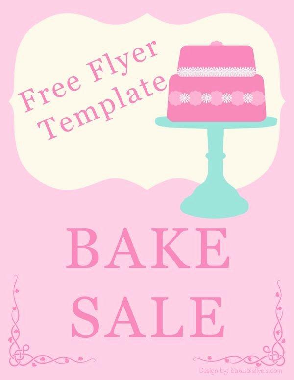 Bake Sale Flyer Wording Beautiful Bake Sale Flyer Template