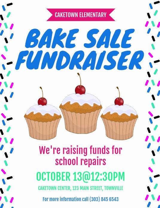 Bake Sale Flyer Wording Beautiful Bake Sale Fundraiser Flyer Template
