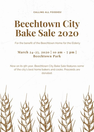 Bake Sale Flyer Wording Beautiful Customize 314 Bake Sale Flyer Templates Online Canva