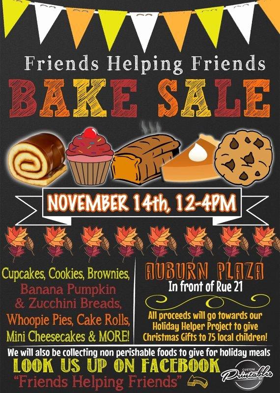 Bake Sale Flyer Wording Best Of Bake Sale Flyer Bake Sale Invitation Fall Bake Sale
