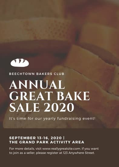 Bake Sale Flyer Wording Lovely Customize 295 Bake Sale Flyer Templates Online Canva