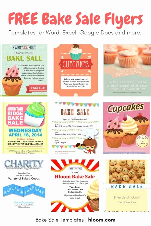 Bake Sale Flyer Wording Luxury Get Bake Sale Prep Tips tons Of Free Bake Sale Flyers