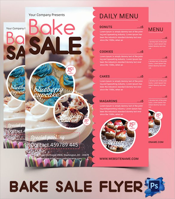 Bake Sale Flyer Wording Unique 24 Bake Sale Flyer Templates Indesign Apple Pages