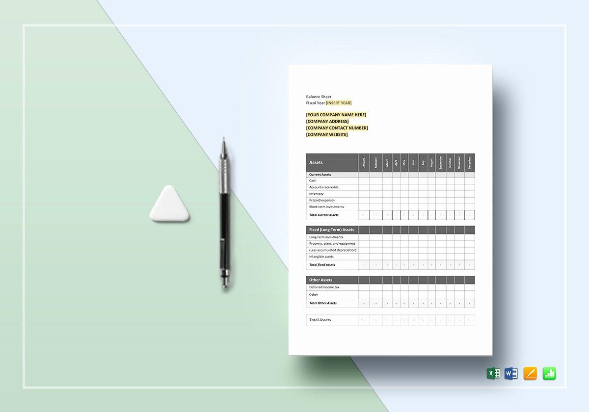 Balance Sheet Template Google Docs Inspirational Monthly Balance Sheet Template In Word Excel Google Docs
