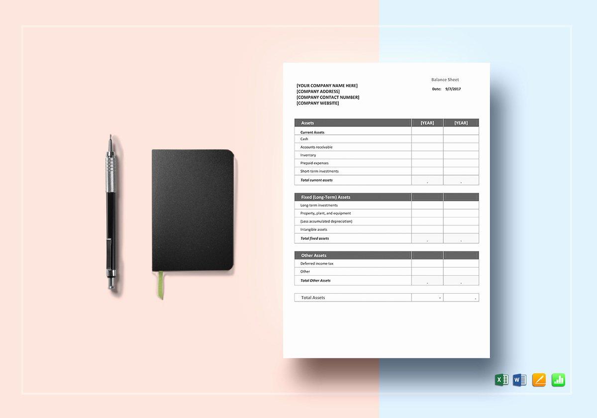 Balance Sheet Template Google Docs Unique Balance Sheet Template In Word Excel Google Docs Apple