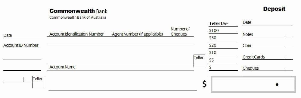 Bank Deposit Slip Template Luxury 3 Bank Deposit Slip Templates Word Excel formats