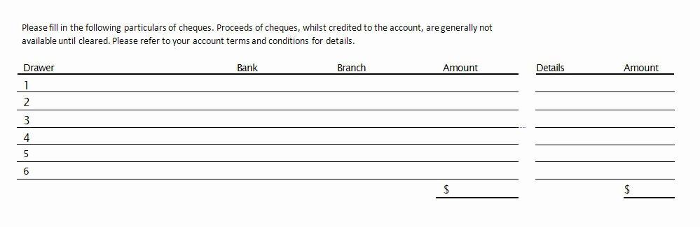 Bank Deposit Slip Template Unique source Documents the Bank Deposit Slip