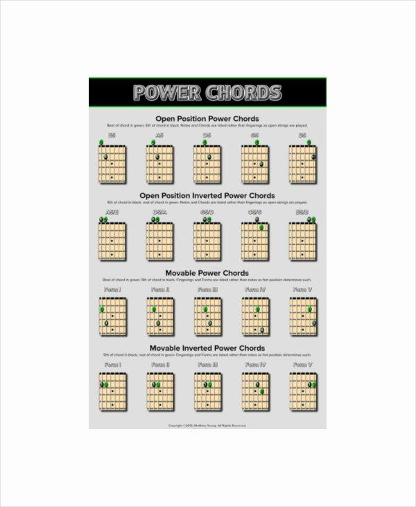 Bar Chords Guitar Chart Inspirational Guitar Bar Chords Chart Template 5 Free Pdf Documents