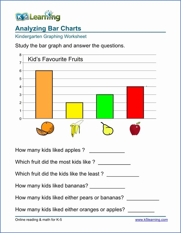 Bar Graph Worksheets Unique Kindergarten Graphing Worksheet