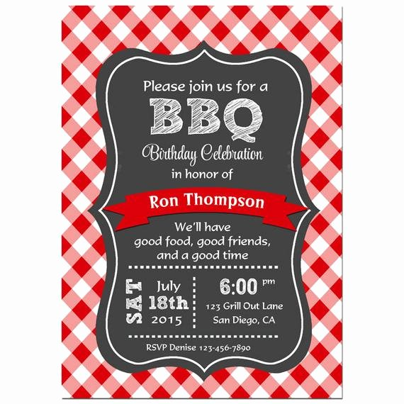 Barbecue Invitation Free Template Awesome Items Similar to Bbq Invitation Printable or Printed with