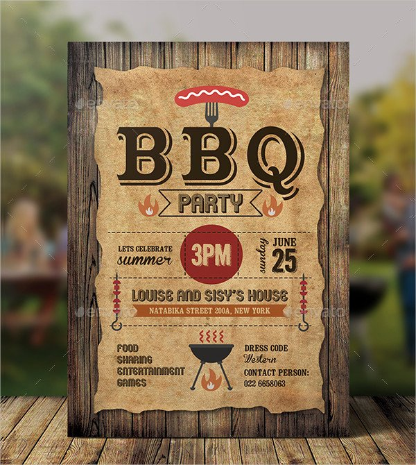 Barbecue Invitation Free Template Best Of 20 Bbq Party Invitation Templates Free & Premium Psd