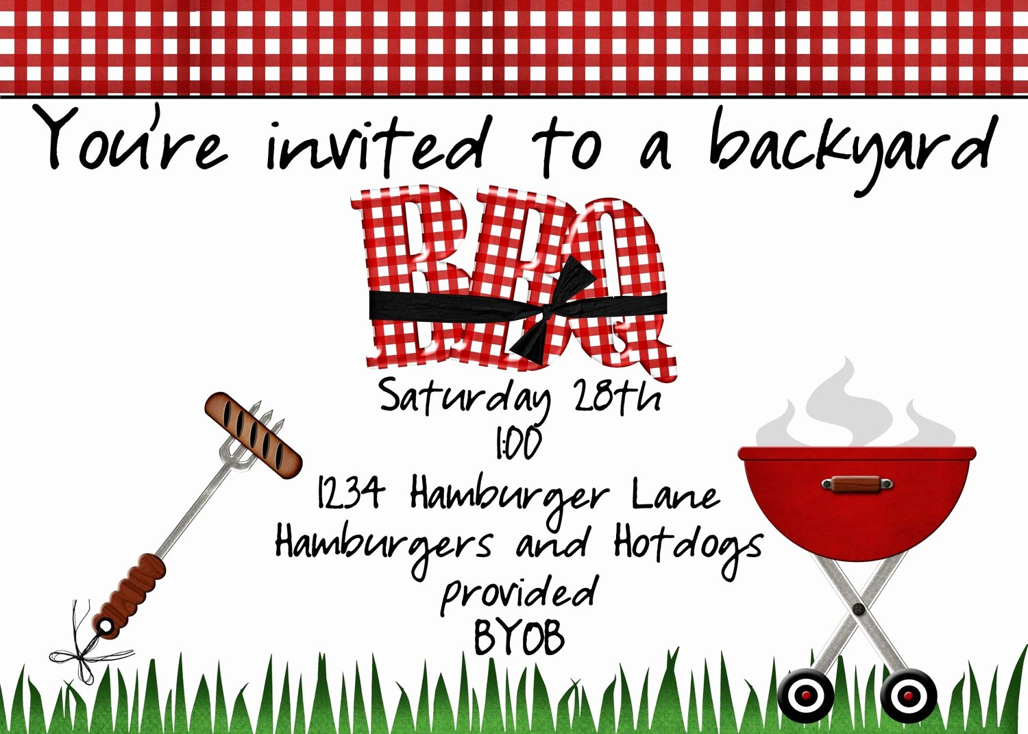 Barbecue Invitation Free Template Best Of Backyard Bbq Invitation by Jaebirddesign On Etsy