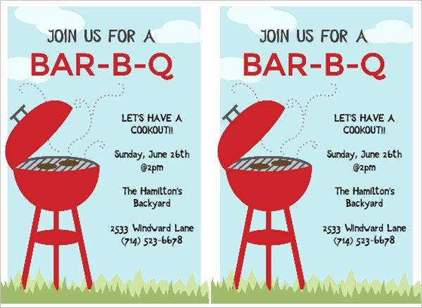 Barbecue Invitation Free Template Elegant 52 Bbq Invitation Templates Psd Vector Eps Ai
