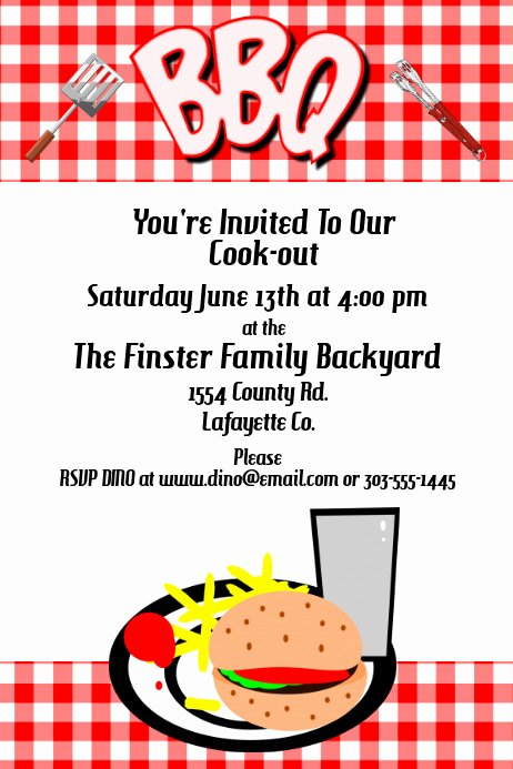 Barbecue Invitation Free Template Elegant Bbq Invitation Template