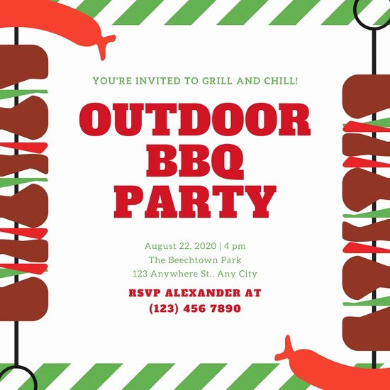 Barbecue Invitation Free Template Elegant Customize 70 Bbq Invitation Templates Online Canva