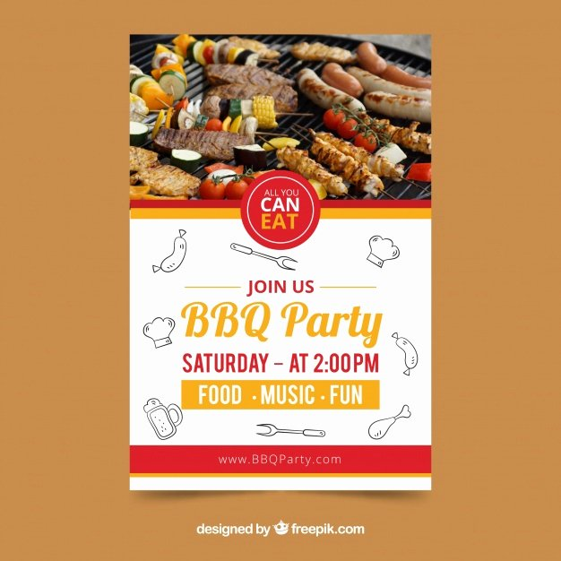 Barbecue Invitation Free Template Fresh Creative Bbq Invitation Template Vector