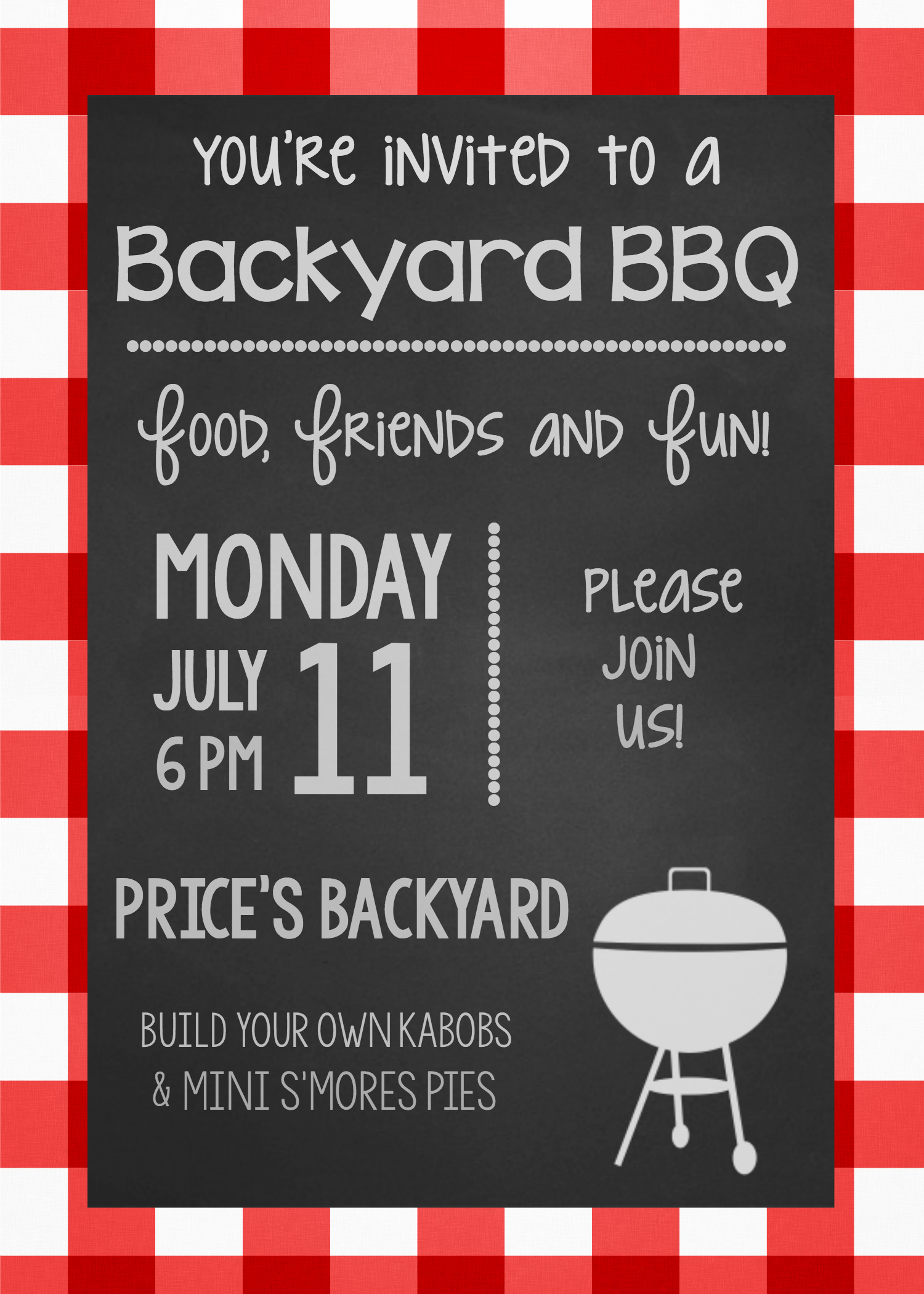 Barbecue Invitation Free Template Inspirational Summer Bbq Party Invitations & Printables – Fun Squared