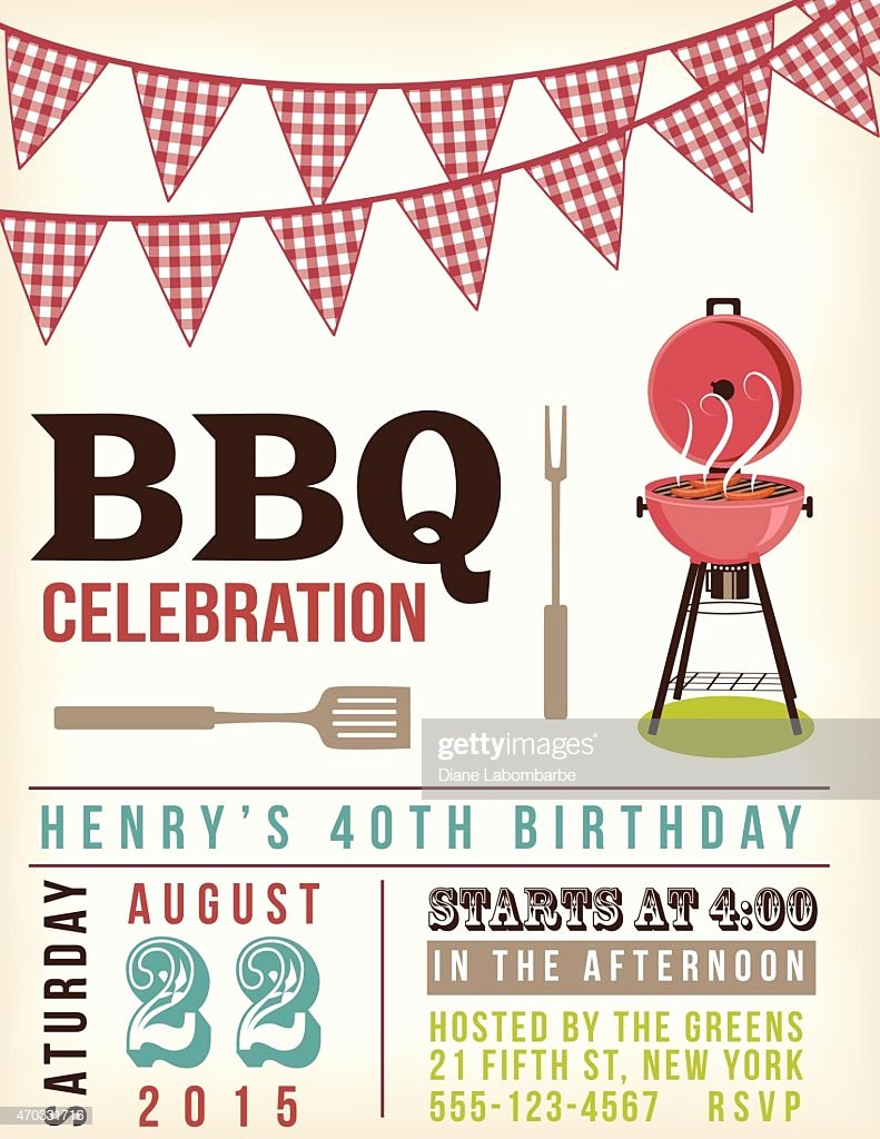 Barbecue Invitation Free Template Lovely Retro Bbq Invitation Template with Checkered Flags