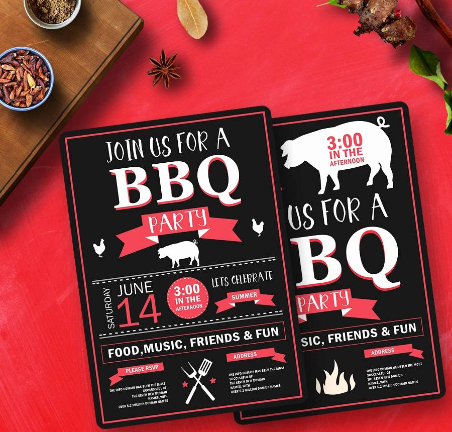 Barbecue Invitation Free Template Luxury 19 Free Invitation Templates Wedding Birthday Dinner