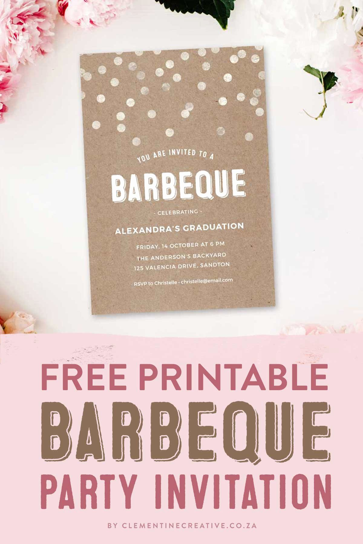 Barbecue Invitation Free Template Luxury Throw A Stylish Barbeque Party with This Gorgeous