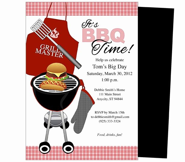 Barbecue Invitation Free Template New General Birthday Party Templates Bbq Birthday Invitation