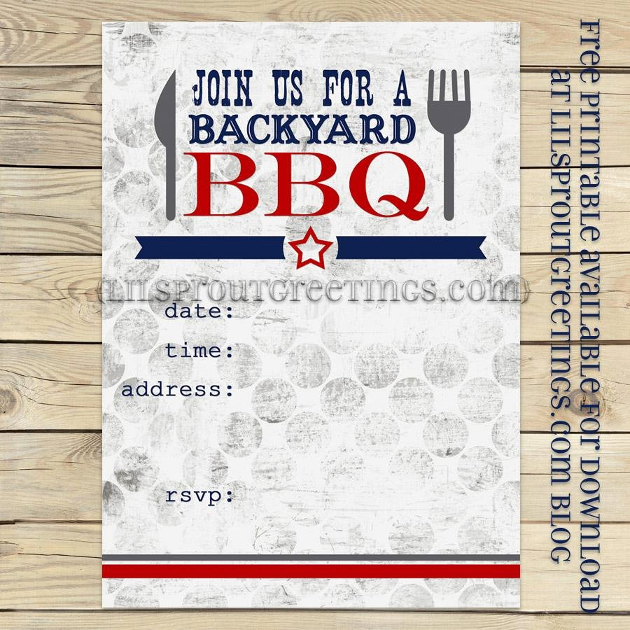 Barbecue Invitation Free Template Unique 25 Of Backyard Bbq Template Blank