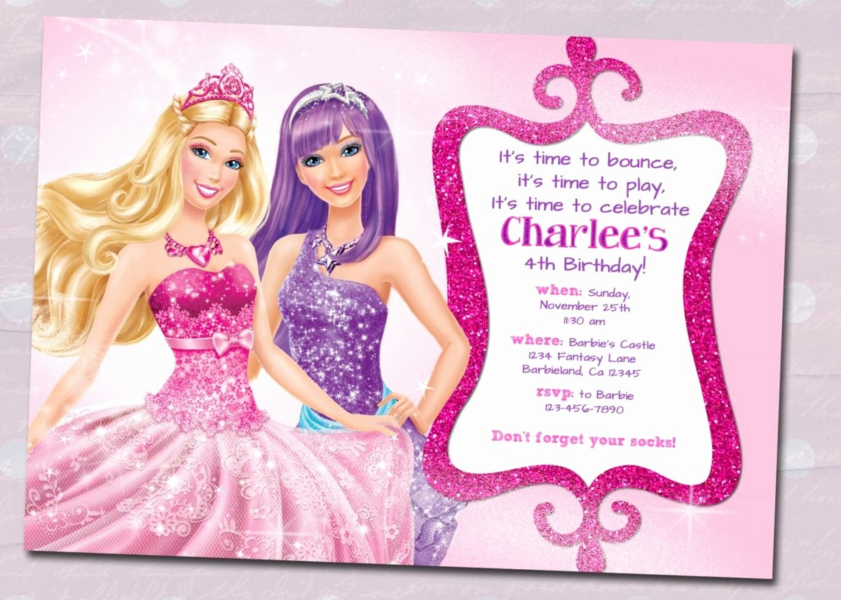 Barbie Invitations Templates Free Awesome Barbie Birthday Invitation Samples Invites