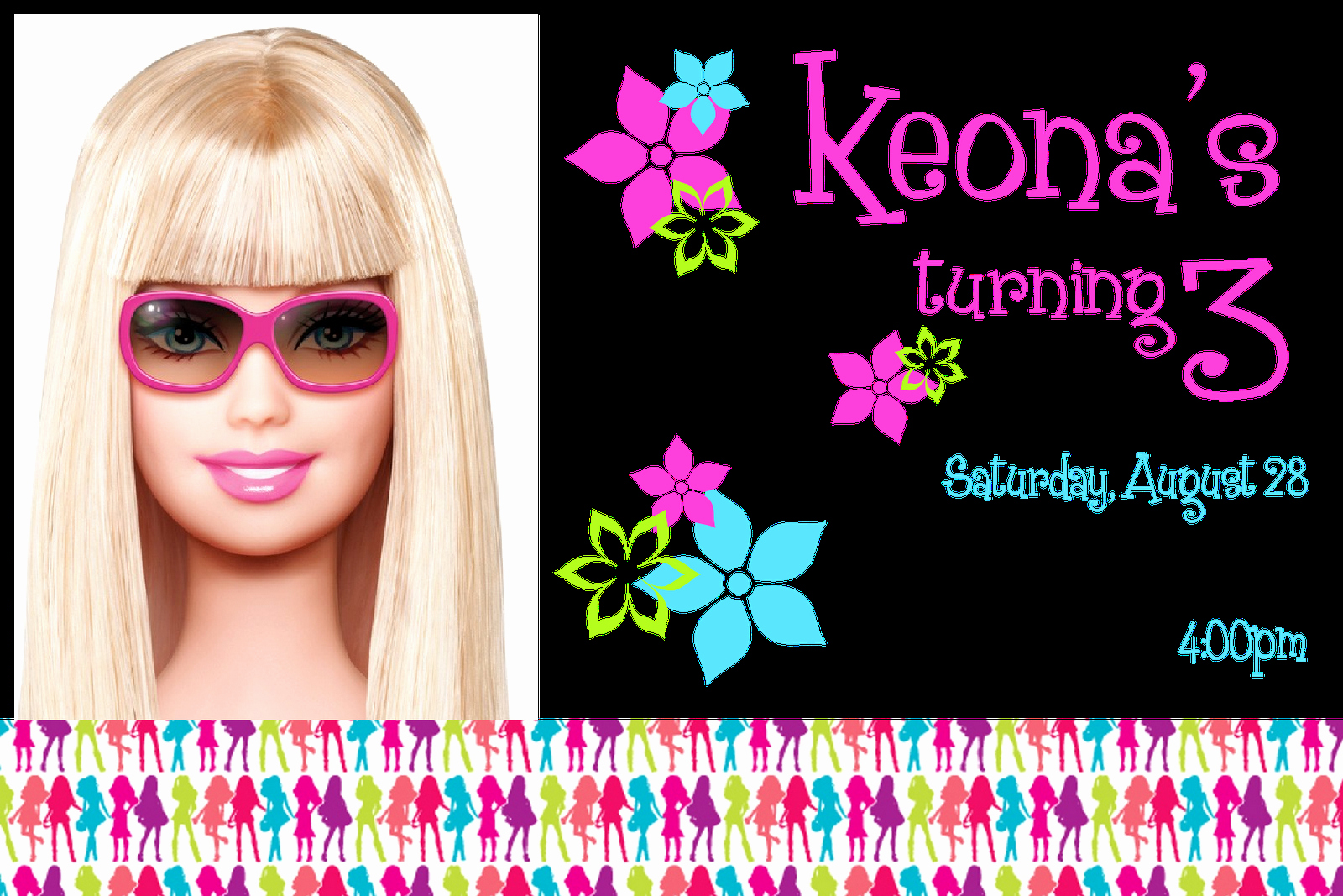 Barbie Invitations Templates Free Beautiful Free Printable Barbie Invitations Invitation Templates