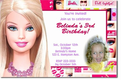 Barbie Invitations Templates Free Best Of Barbie Invitation Free Template