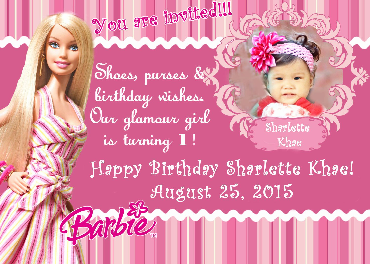 Barbie Invitations Templates Free Luxury Diy Barbie Invitation Nheng S Wonderland