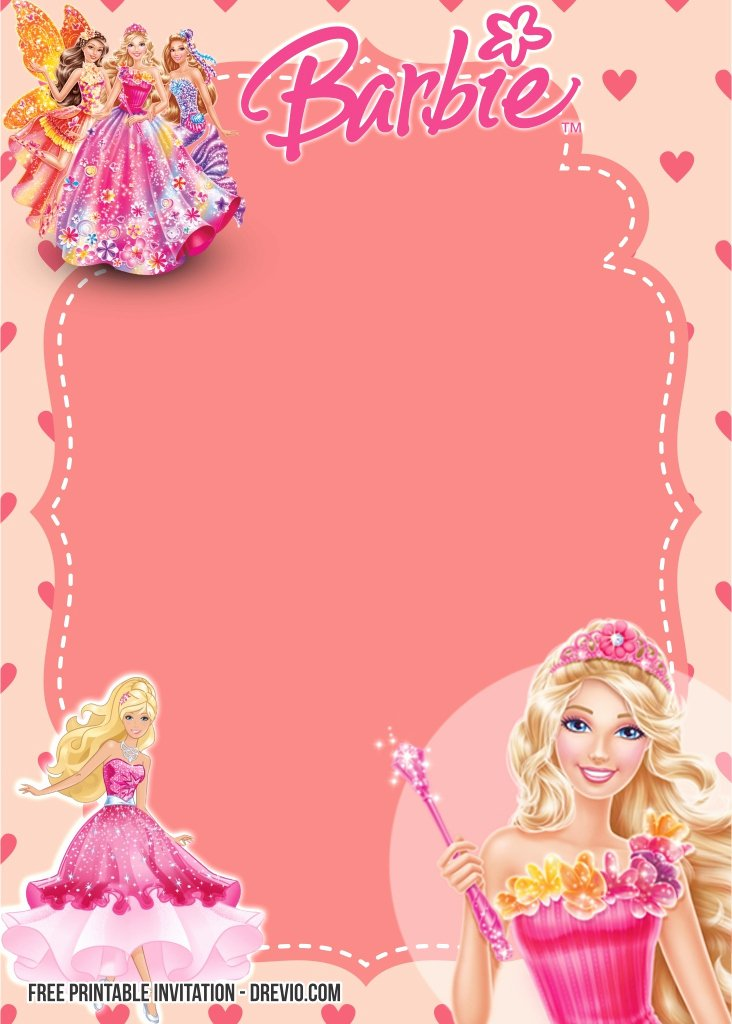 Barbie Invitations Templates Free Luxury Free Printable Barbie Birthday Invitation Templates
